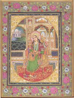 Mughal Painting of Mumtaz Mahal