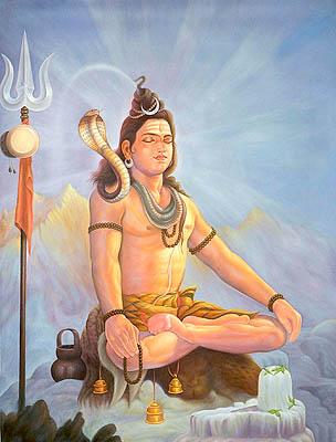 Kailashpati on Kailash (Meditating Shiva)