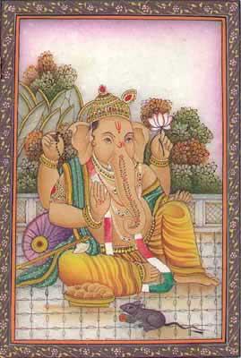 Miniature Paintings of Ganesha