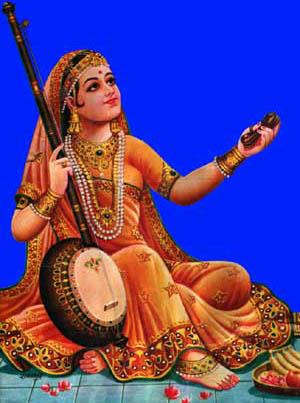 Mirabai Wearing a Sari
