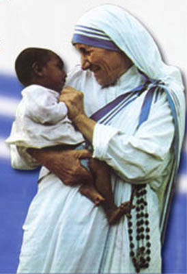 Mother Teresa Wearing a Sari