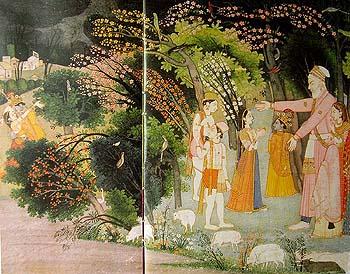 Nand asks Krishna to acccompany Radha to her home