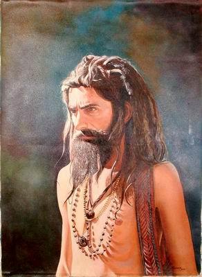 Shaivite Sadhu Wearing Rudraksh