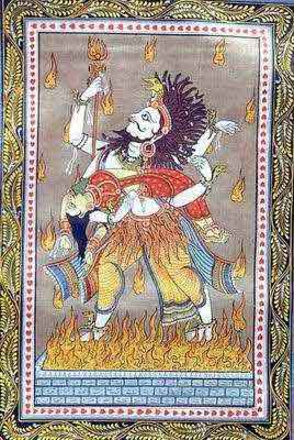 Shiva Carries Sati's Corpse