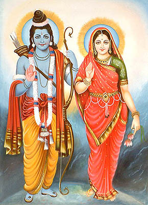 Whole world is Rama Sita I know, With folded hands to them I bow