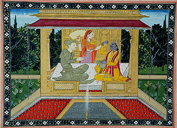 Rukmini Ji Stops Krishna from Taking Another Bite