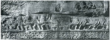 Earliest Image of Samudra Manthan, ca 300 AD