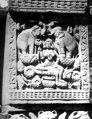 Image of Goddess Lakshmi from Sanchi - Her Earliest Identifiable Image