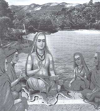 Shankaracharya with his disciples