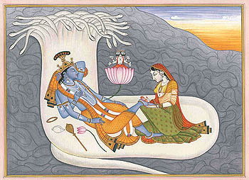 Shri Narayana Vishnu in Yoga Nidra