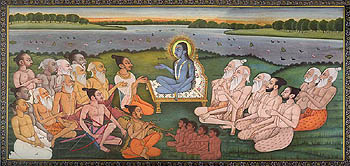 Shukadev Ji Narrating The Bhagavata Purana to King Parikshit