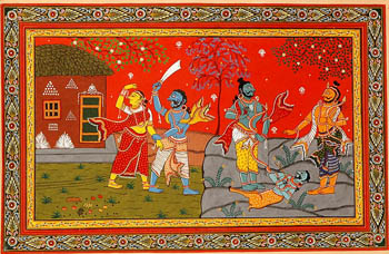 Slaying of Maricha in Golden Deer's Guise and Abduction of Sita