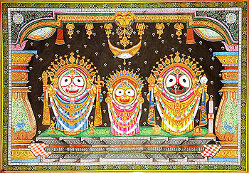 Sri Jagannatha Balarama and Subhadra at Puri