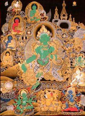 Green Tara in Buddhist Art