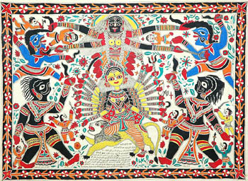 Devi Creates Goddess Kali out of Her Own Being