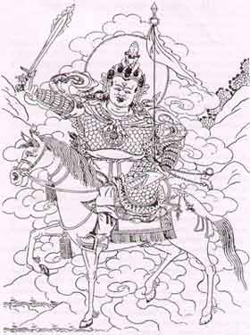 Buddhist Wrathful Deities - Tshangs Pa