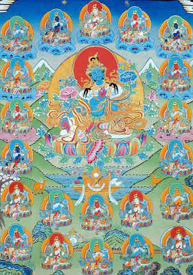 Green Tara with Twenty-One Taras