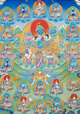 Green Tara with Twenty-One Taras