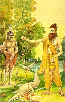 Valmiki and the Wounded Bird