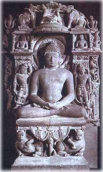 Lord Mahavir on Lion Throne