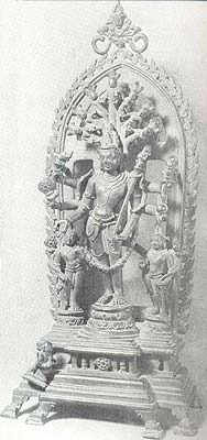 Visvarupa Vishnu. Sagardighi, Second half of the 11th cent. A.D., Ht. 35 cm., Bangiya Sahitya Parishad Museum, Calcutta