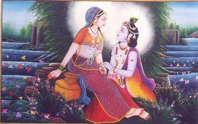 Paintings of Radha and Krishna
