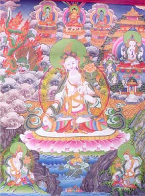 White Tara as essence of the three Buddhas