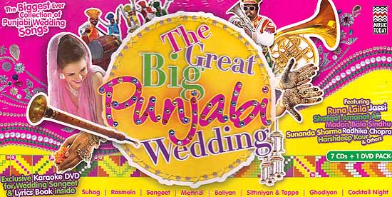 the great big punjabi wedding the biggest ever collection of punjabi wedding songs exclusive karaoke dvd for wedding sangeet lyrics book inside