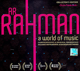 AR Rahman: A World of Music- Collector's Edition (5 Audio CDs + 1 DVD Pack)