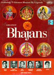 Greatest Bhajans (Featuring 75 Greatest Bhajans By Legends) (MP3 CD)