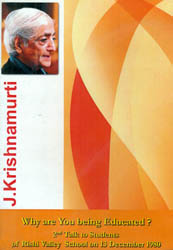 J. Krishnamurti: Why are You Being Educated? (DVD)