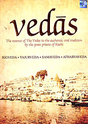 Vedas: The Essence of The Vedas in the Authentic Oral Tradition by The Great Priests of Kashi (Rigveda, Yajurveda, Samaveda, Atharvaveda ) (Set of 4 Audio CDs)