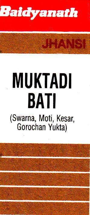 Muktadi Bati (Swarna, Moti, Kesar, Gorochan Yukta)