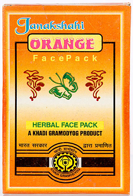 Janakshahi Orange Face Pack (Herbal Face Pck- A Khadi Gramodyog Product)