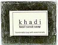 Khadi Basil Scrub Soap (Handmade Soap With Essential Oil) (Price Per Pair)