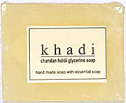 Khadi Chandan Haldi Glycerine Soap (Hand Made Soap With Essential Soap) (Price Per Pair)