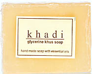 Khadi Glycerine Khus Soap (Hand Made Soap With Essential Oils) (Price Per Pair)