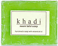 Khadi Neem Tulsi Soap (Handmade Soap With Essential Oil) (Price Per Pair)