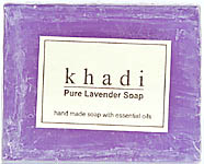 Khadi Pure Lavender Soap (Hand Made Soap With Essential Oil) (Price Per Pair)