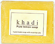 Khadi Pure Lemon Soap (Hand Made Soap With Essential Oil) (Price Per Pair)