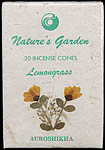 Lemongrass - Nature's Garden Incense Cones (Pack 4 Packets)