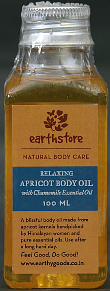 Relaxing - Apricot Body Oil - With Chamomile Essential Oil (Natural Body Care)
