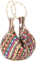 Multi-Color Handbag with Embroidered Beads