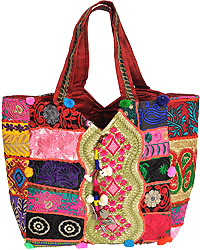 Shopper Bag from Kutch with Antique Embroidery