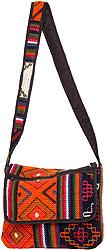 Multi-Color Shoulder Bag Hand-woven in Bhutan