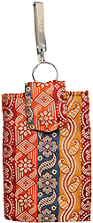 Brocaded Mobile Bag from Banaras with Waist Hook