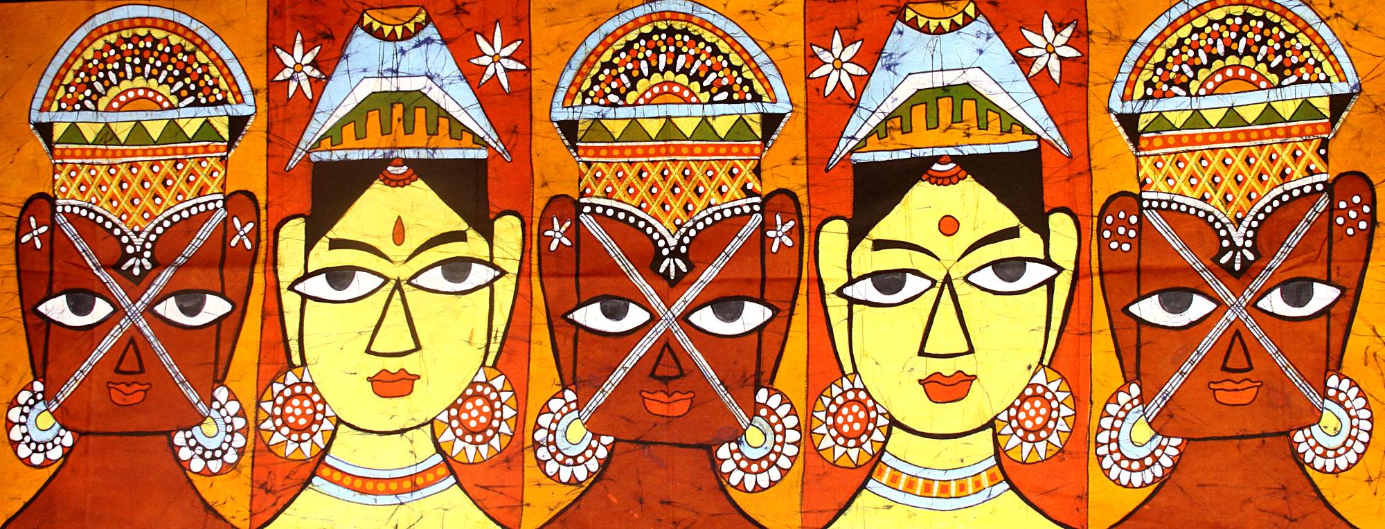 People (Madhubani Style)