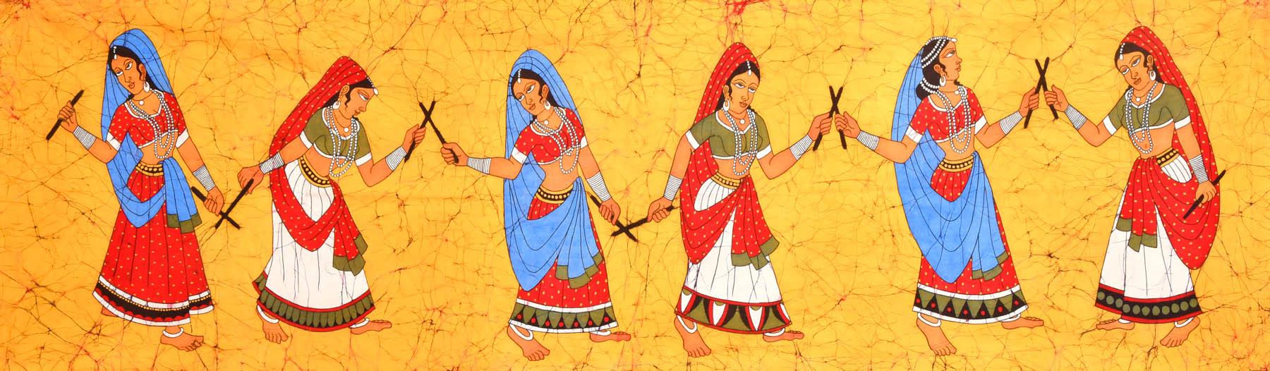Dandia Raas  Folk Dance Dandiya Dance Clipart