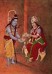 Devi Annapurna Feeds Siva
