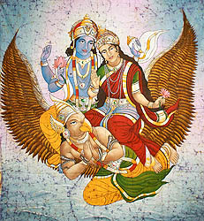Vishnu Lakshmi on Garuda
